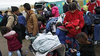 Clothes for refugees on Croatia-Serbia borders