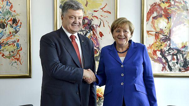 Merkel-Porosenko találkozó az ENSZ-ülés előtt