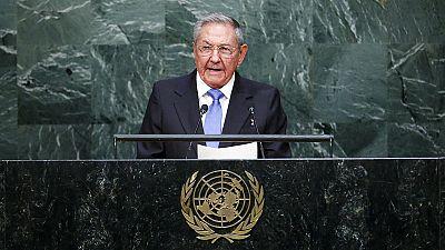Raúl Castro pide en la ONU el final del embargo
