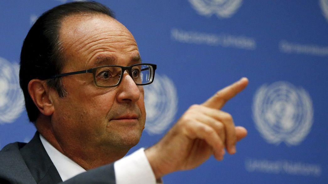 Hollande betont Bedeutung des Pariser Klimagipfels für UN-Nachhaltigkeitsziele