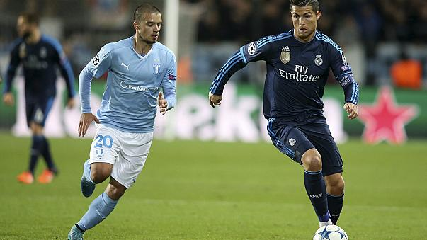 Champions League: Ronaldo scores a brace as Real Madrid down Malmö