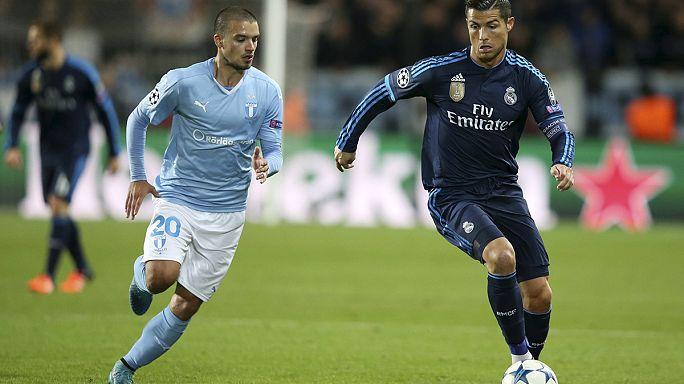 Liga dos Campeões: Benfica faz história em Madrid, Cristiano Ronaldo também mas em Malmö