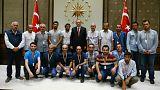 وصول المخطوفين الأتراك إلى انقرة بعد الإفراج عنهم في جنوبي العراق