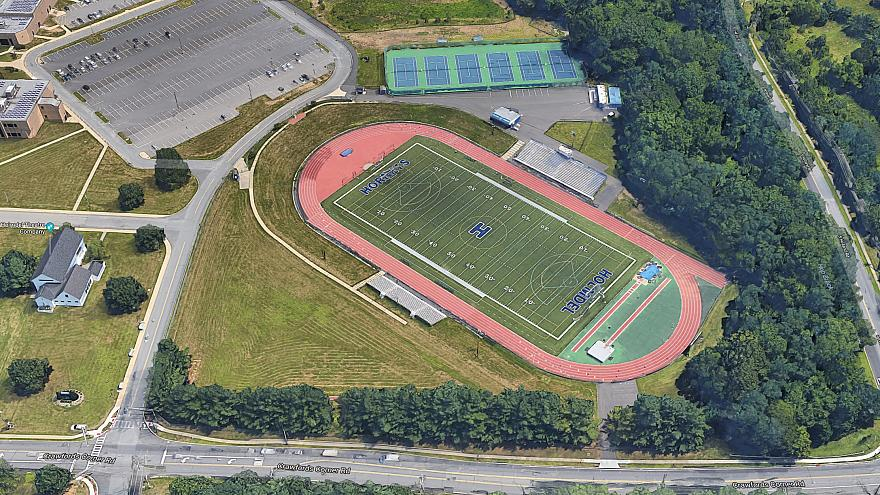 Image: Holmdel High School athletic fields and track in Holmdel, New Jersey