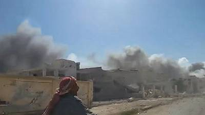 Russian fighter jets step up attacks on Syrian insurgents