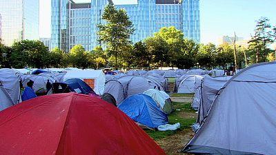 Bruxelles, smantellato il campo rifugiati nel centro della città
