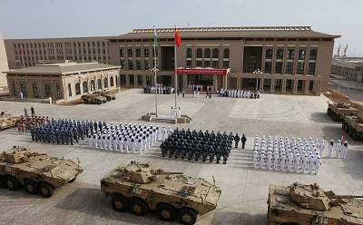 Chinese People\'s Liberation Army personnel attend the opening ceremony of China\'s new military base in Djibouti on Aug. 1, 2017.