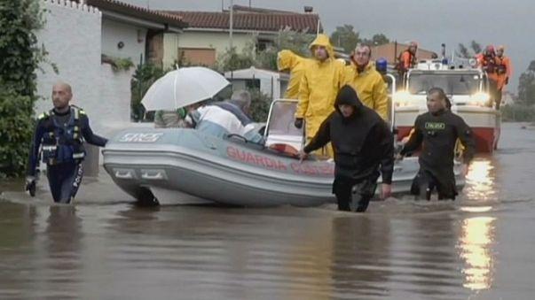 Hatalmas ciklon csapott le Szardíniára