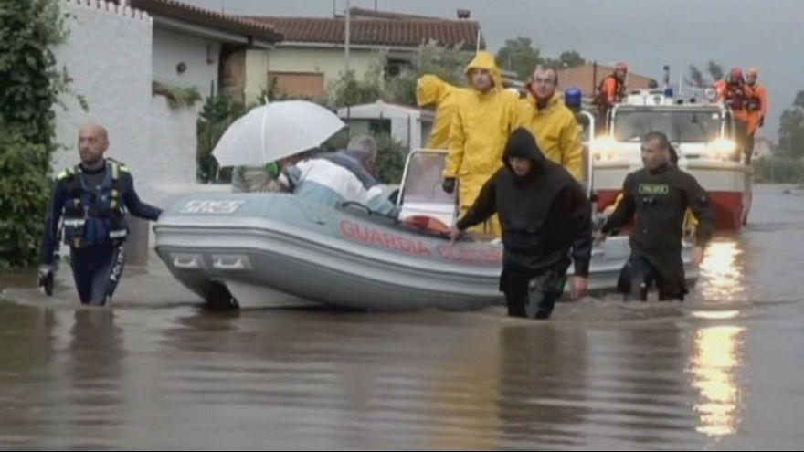 Inundaciones y caos en Córcega y Cerdeña tras el paso de un ciclón tropical