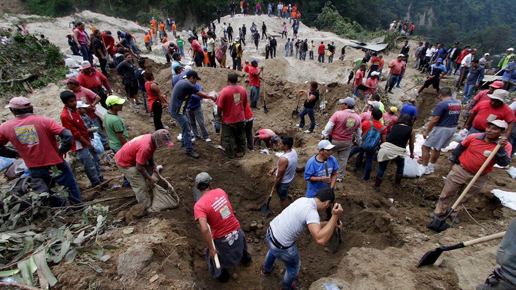 Al menos 30 muertos y más de 450 desaparecidos tras un deslizamiento de tierra en Guatemala