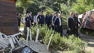 #inondations: French president visits flood-hit region