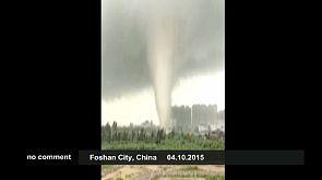 Taifun in China