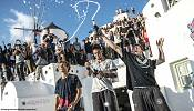 Greek freejumper delights crowds in Santorini in the Redbull Art of Motion 2015 finals