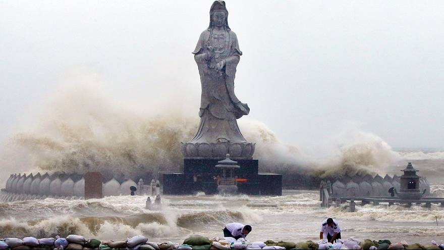 Többen meghaltak a tájfun miatt Kínában