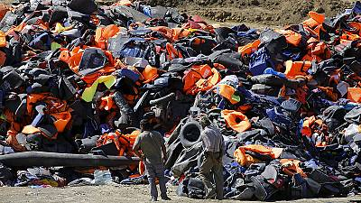 On one beach: 283 lifejackets, 48 plastic tubes, 36 pieces of clothing