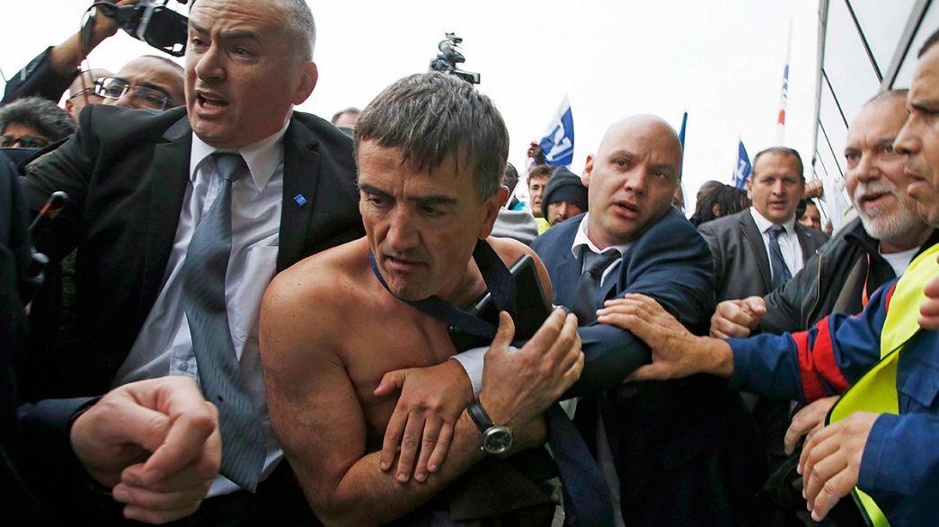 Diretores da Air France violentados por trabalhadores em fúria