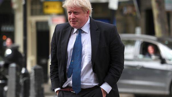 Image: Britain's Boris Johnson is in Washington Monday.