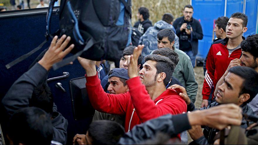 Sırbistan'da mülteci izdihamı