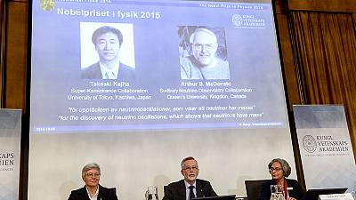 Nobel: neutrinos pair win 2015 Nobel physics prize