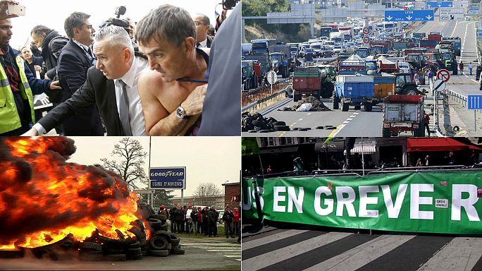 العمال الفرنسيون والعنف ... ومجموعة من الاحداث