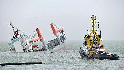 Bélgica: Naufrágio de cargueiro após colisão ao largo de Zeebruge