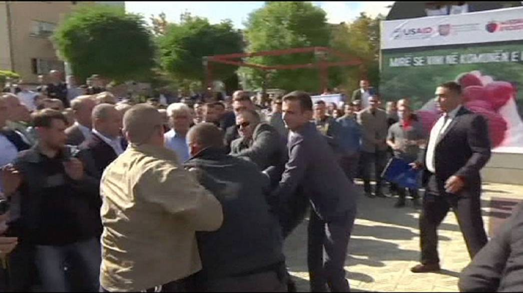 Kosovo PM pelted with eggs