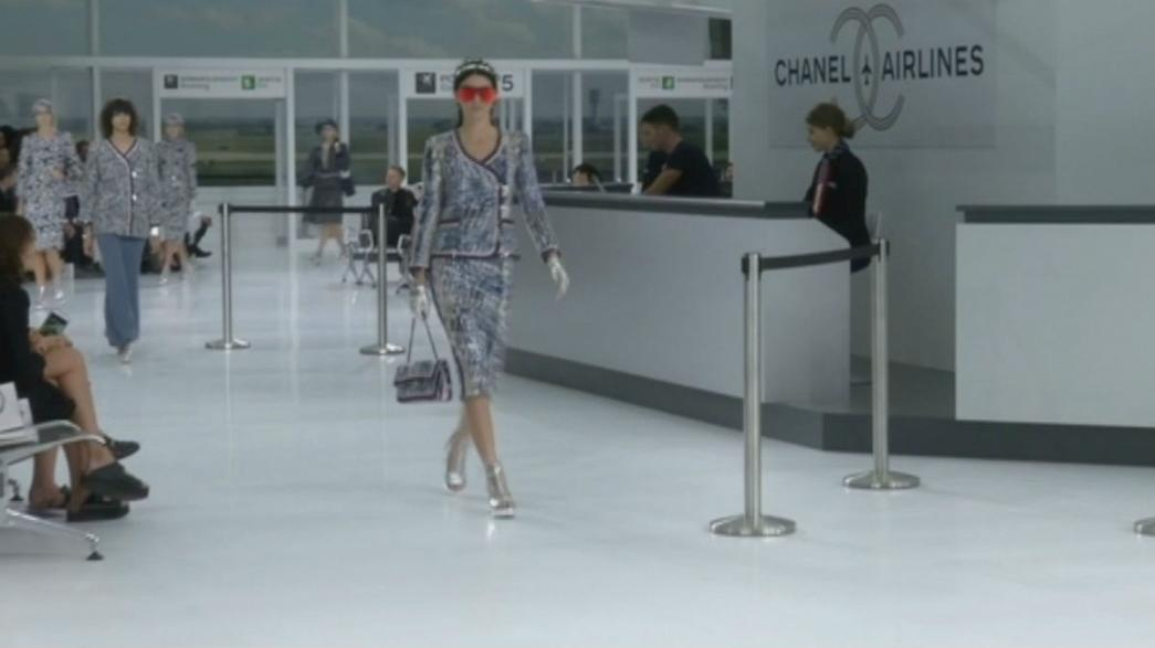 All aboard for Lagerfeld's Chanel show at Paris Fashion Week
