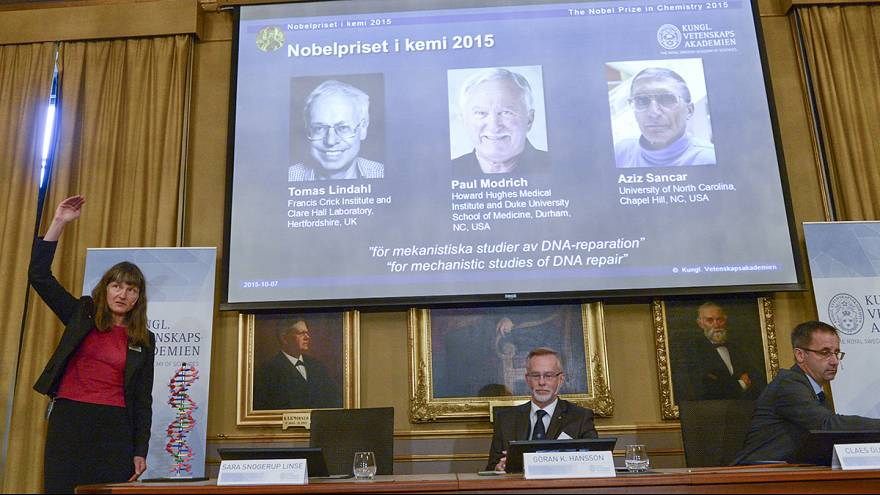 Work on DNA repair wins Nobel Prize for Chemistry