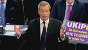 Britain's anti-EU leader Farage slams Merkel-Hollande parliament address