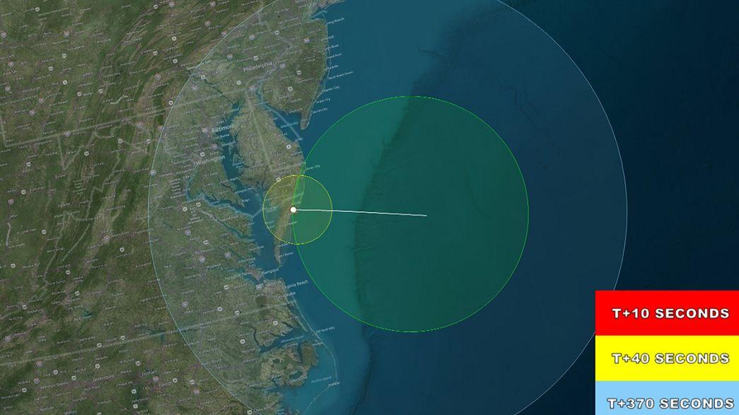 NASA lança foguetão experimental