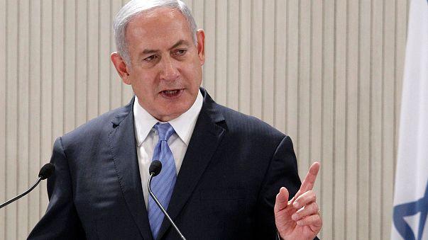Image: Israeli Prime Minister Benjamin Netanyahu speaks during a press conf