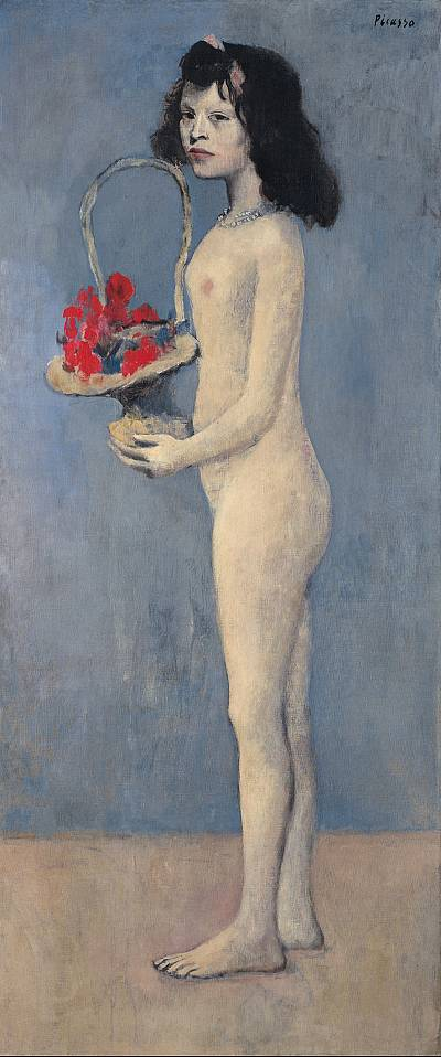 "Picasso\'s ""Young Girl with a Flower Basket"""