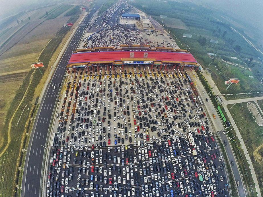 Chine : retour de vacances chargé sur les routes...
