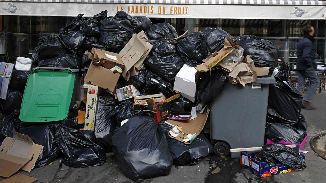 Paris'te çöpçüler ayaklandı