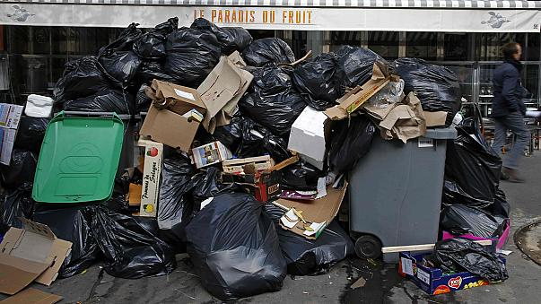 Cuarto día de huelga de basuras en París