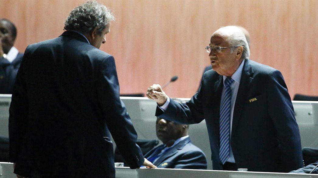 FIFA : Platini et Blatter suspendus 90 jours