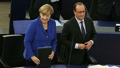 """""""Europe Weekly"""": Declaração histórica de Merkel e Hollande no Parlamento Europeu"""