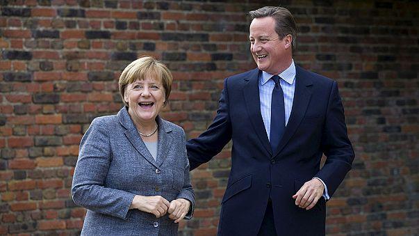 Flüchtlingskrise, Syrien, EU-Verbleib: Kanzlerin Merkel zu Gesprächen in Großbritannien