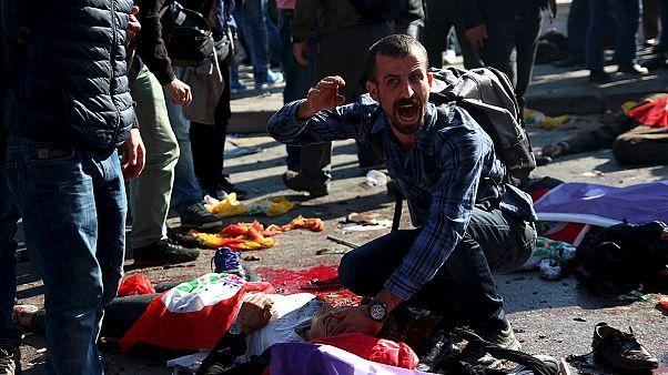 Ankara: More than 80 killed in twin blasts Turkey blames on