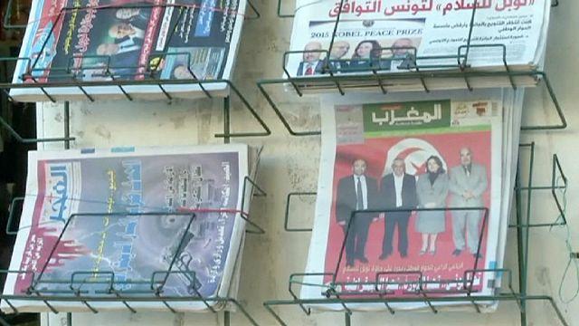 ابتهاج الشارع التونسي بنيل اللجنة الرباعية لجائزة نوبل للسلام