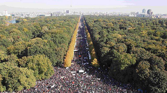 ABD ile yapılması planlanan serbest ticaret anlaşması Berlin'de protesto edildi