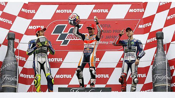 Pedrosa vince a Motegi e Rossi guadagna su Lorenzo, Hamilton trionfa a Sochi