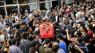 تشييع جثامين عدد من ضحايا تفجيري أنقرة