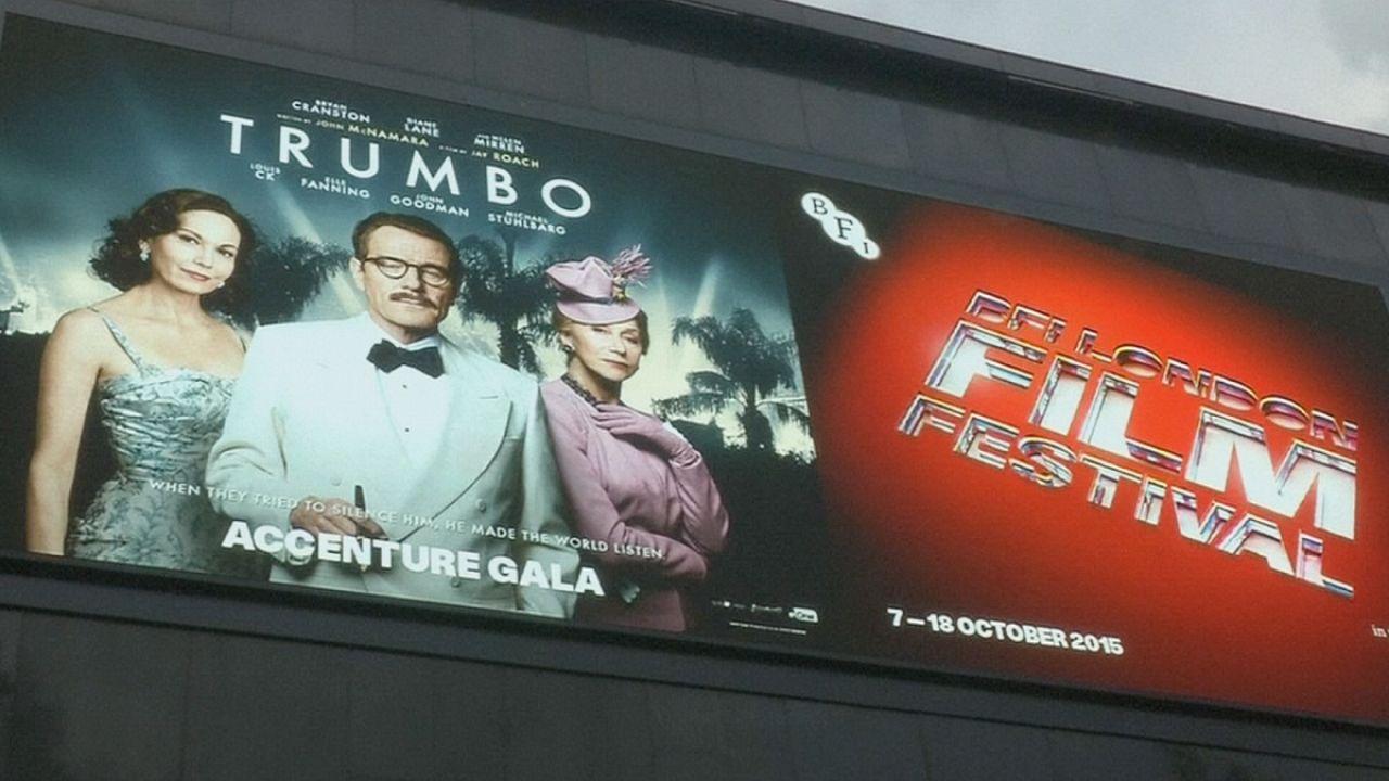 عرض فيلم Trumbo لأول مرة في إطار مهرجان لندن السينمائي