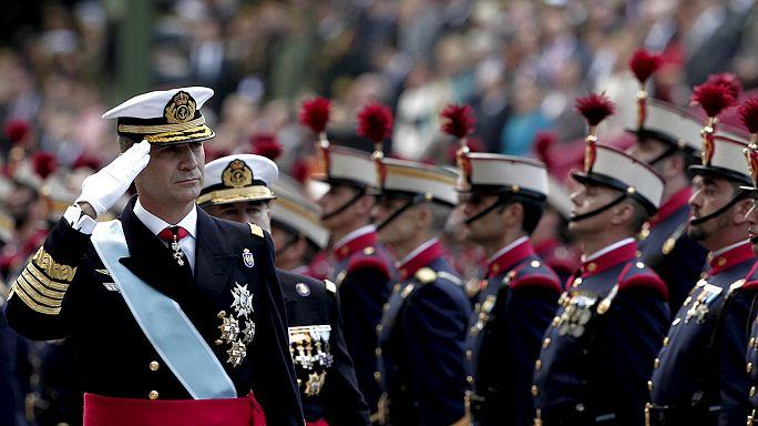 El rey Felipe VI preside el desfile del Día de la Hispanidad con la ausencia de tres presidentes autonómicos