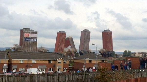 Glasgow: Sprengung von Hochhäusern geht schief
