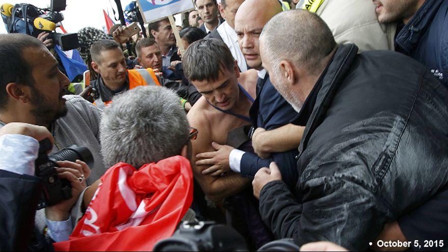 Cinq salariés d'Air France en garde à vue, colère des syndicats