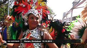 El carnaval llena las calles de Zimbabwe