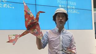 Tokyo technology show introduces aerial origami and ping-pong robots