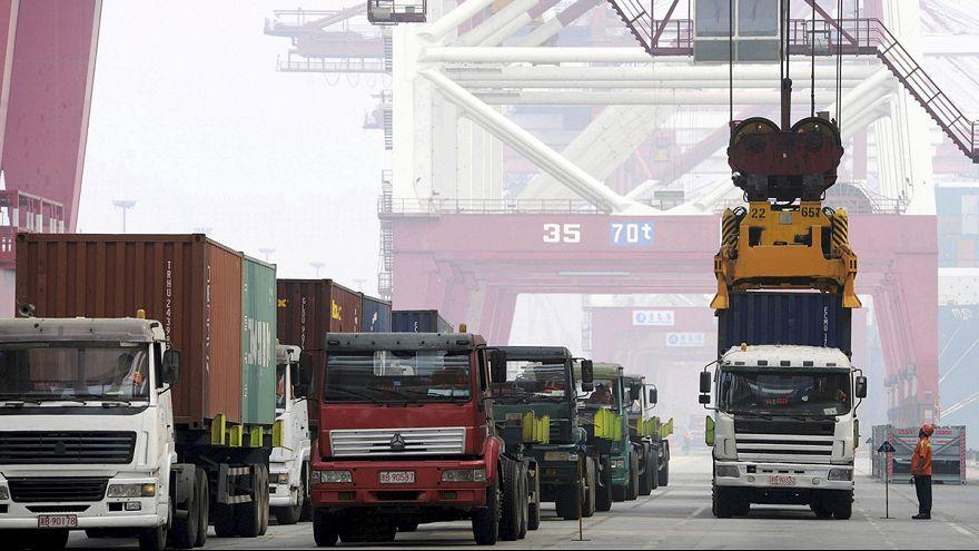 Exportações na China caíram menos do que o previsto